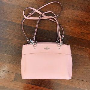 Coach Crossbody satchel blush pink leather